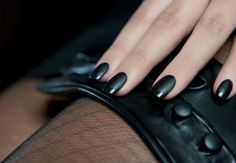 Black as leather..
