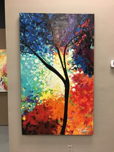 The Colorful tree by NastasGallery on Etsy