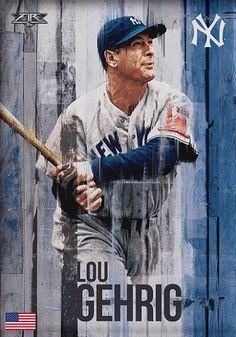 Lou Gehrig Yankees News, Yankees Fan, New York Yankees, Baseball Painting, Sports Painting, No Crying In Baseball, Baseball Classic, Sports Gallery, Lou Gehrig