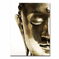 Golden Buddha Canvas Art (Frameless)    https://zenyogahub.com/collections/meditation-collection/products/golden-buddha-canvas-art