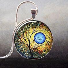 Blue Sun art pendant charm resin pendant by thependantemporium - StyleSays