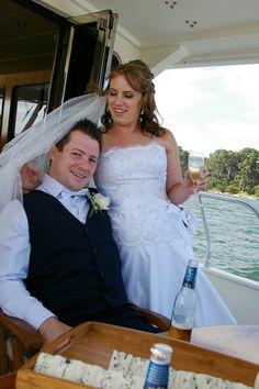 Wedding day cruise with Adam and Caroline Evans, November wedding photography around Metung