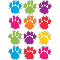 Ashley Dry Erase Paw-shaped Die-cut Magnets - Fun Theme/Subject - 12 (Paw) Shape - Magnetic - Write on/Wipe off, Die-cut, Heavy Duty, Damage Resistant, Long Lasting - Assorted - 1 Set Liquid Chalk Markers, Chalk Pens, Paw Patrol Party, Paw Patrol Birthday, Crafts For Kids, Arts And Crafts, Puppy Birthday, Punch Out, Die Cutting