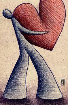 El corazón de un hombre nunca es lo suficientemente grande para guardar el amor que puede sentir