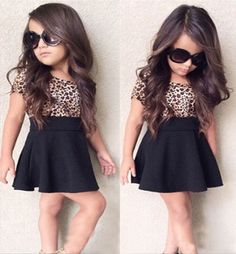 New Baby Girls Clothing Suit Leopard Print Top + Black Skirt 2 Pcs/Set Outfit   Clothing, Shoes & Accessories, Baby & Toddler Clothing, Girls' Clothing (Newborn-5T)   eBay!