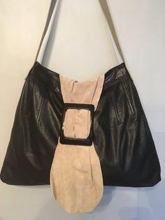 2b09e78b6a Handmade Black Leather handbag - Upcycled from repurposed Vintage 1980s  skirt 80s Skirts