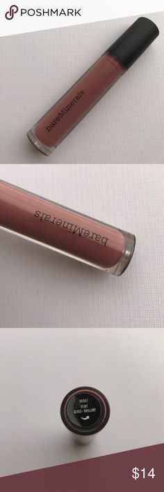 New bareMinerals GEN Nude Buttercream Gloss Flirt New without a box bareMinerals GEN Nude Buttercream Gloss in Flirt. It's described as a deep mauve shade. bareMinerals Makeup Lip Balm & Gloss