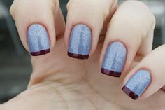 A combination of Isadora Silver sky and Bahama mama from Essie.