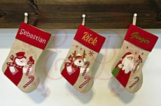 Personalized Christmas stocking  monogrammed by EmbroideryNDesign