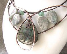 Elven Labradorite Copper Wirework Necklace. love this