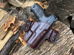 Nightingale Leather HK VP9 Griffon V OWB Holster ~ Cordovan Cowhide ~ Full Grain Leather Lining Brown Stitching ~ Black Snaps