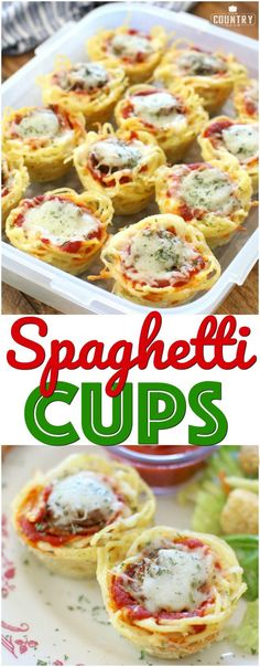 Sausage Spaghetti Cups with Johnsonville Italian Sausage. A recipe from The Country Cook. I Love Food, Good Food, Yummy Food, Delicious Appetizers, Tasty, Sausage Spaghetti, Spaghetti Dinner, Spaghetti Bake, Zucchini Spaghetti