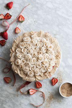 Rosy Rhubarb & Strawberry Pie @kayleyq