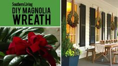 DIY Magnolia Christmas Wreath | Nothing heralds a Southern Christmas season quite like a stunning magnolia wreath. Follow along as we show you how to create this holiday classic, step-by-step.