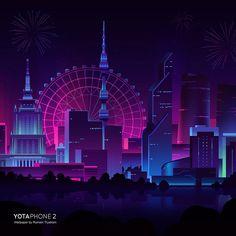 Futuristic Yota Phone City Wallpapers