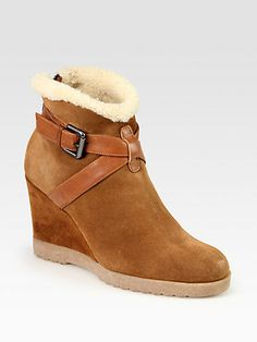 suede & shearling ankle boot.