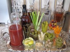 Bloody Mary Station + Mimosa Bar = Brunch Wedding Booze by mollie