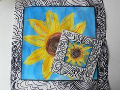 Sofias klasselærer har spurgt om jeg har en ide, til at komme og male Van Gogh inspirerede billeder med klassen. Siden det er 0. klasse, h...