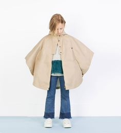 Cape raincoat with hood-Coats-Girl (4-14 years)-KIDS | ZARA United States