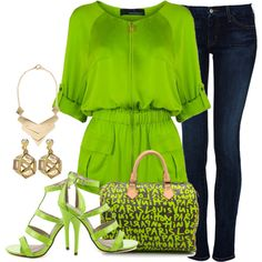 """""""Green"""" by lmshull on Polyvore"""