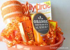Orange You Glad Gift Basket Teacher Gift