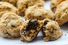 Brown Butter Chocolate Chunk Oatmeal Cookies