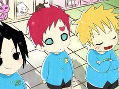 Sasuke, Gaara, Naruto