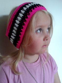 Crochet Zebra Print Headband Earwarmer Various Sizes by WoollyPops