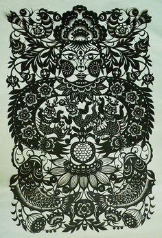 Chinese paper cut art.