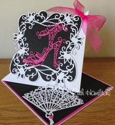 Blog Tonic: Sassy Heels and Delicate Fan - new Rococo dies...c...