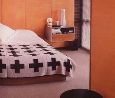 Bedroom with Pia Wallen crux blanket