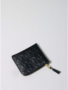 comme des garcons embossed leather line wallet black Oak - LEATHER on InStores
