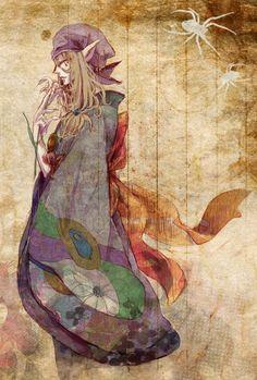 Medicine Seller from Mononoke Manga Art, Manga Anime, Anime Art, Mononoke Anime, Sinbad Magi, Anime Kunst, Realistic Drawings, Manga Games, Whimsical Art