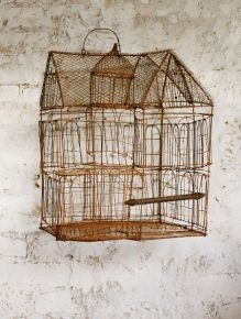 Bird cage by olsson jensen Antique Bird Cages, The Caged Bird Sings, Ivy House, Vintage Birds, Wire Art, Beautiful Birds, Beautiful Things, Bird Feathers, Bird Houses