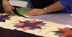 This Fun Take On The Old Ribbon Star Block Is Much Easier Than It Looks (And Beautiful Too)!   24 Blocks