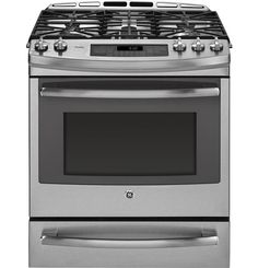 Went with this GE Profile dual fuel range. Loving the electric convection oven with gas top burners. Cooks like a dream.