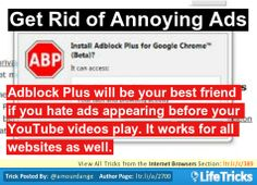 Internet Browsers - Get Rid of Annoying Ads