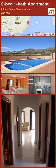 2-bed 1-bath Apartment in Lliber, Costa Blanca, Spain ►€85,000 #PropertyForSaleInSpain