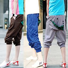 Mens Cropped Sports Pants