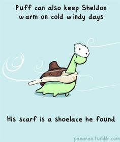 The Adorable Comic Strips Of Sheldon The Tiny Dinosaur