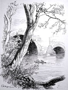 'The Wind in the Willows' 1908 by Kenneth Grahame illustrated by E.H. Shepard
