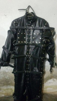 Excited to share the latest addition to my #etsy shop: Original Leather bondage Full Body Suite with Leather Boots, bondage hood, complete set. http://etsy.me/2Es200Z