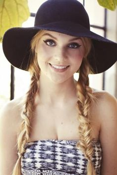 Fishtail braids look great under a floppy summer hat.