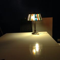 Old lamp; new glass