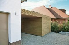 Modern carport garage and carport ideas on pinterest Carport with storage room