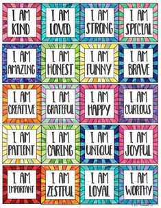 Positive Affirmations and Student Compliment Cards for Self-Talk and Kindness Positive Self Talk, Positive Words, Positive Thoughts, Positive Quotes, Affirmations For Kids, Positive Affirmations, Words Of Affirmation, Words Of Encouragement, Kindness Activities