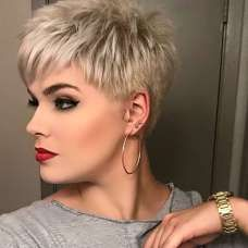 Short Blonde Pixie - Pixie Haircuts for Thick Hair – 50 Ideas of Ideal Short Haircuts - The Trending Hairstyle Popular Short Hairstyles, Short Hairstyles For Thick Hair, Short Pixie Haircuts, Short Hair Cuts For Women, Curly Hair Styles, Short Pixie Cuts, Long Hair, Short Bobs, Haircut Short