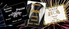Personalised Prom Tickets