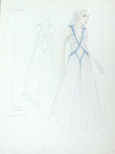 Sketch per abito di Daenerys Targaryen