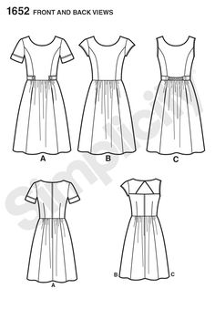 Simplicity Creative Group - Misses' & Miss Petite Amazing Fit Dresses - cup sizes - need to create princess seams in back, adjust sleeve shape
